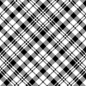 Tartan noir montre modèle sans couture de plaid de clan