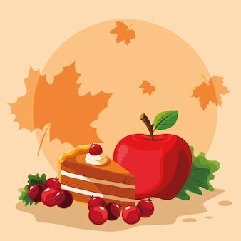 Tarte aux pommes pour le jour de thanksgiving