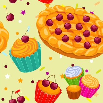 Tartes et muffins à motifs