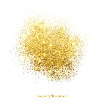 Tas de paillettes dans un style doré