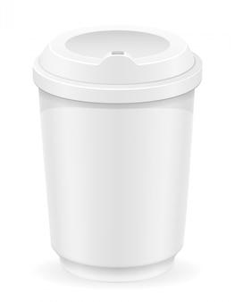 Tasse blanche pour illustration vectorielle café ou thé