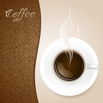 Tasse de café sur fond de papier
