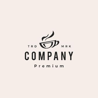 Tasse à café hipster logo vintage icône illustration vectorielle