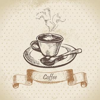 Tasse de café. illustration dessinée à la main