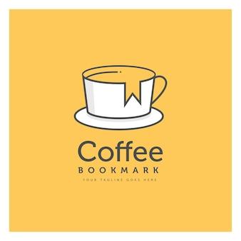 Tasse à café logo design concept prime vecteur