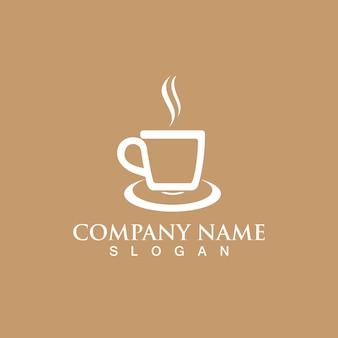 Tasse à café logo template vecteur icône design