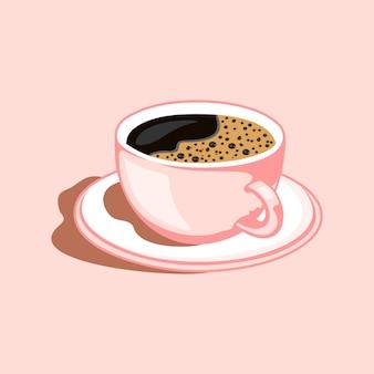 Une tasse de café logo