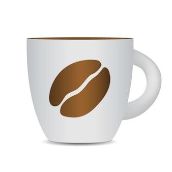 Tasse De Café Noir Isolé Sur Fond Blanc. Vecteur Photo-réaliste. Eps10 Vecteur Premium