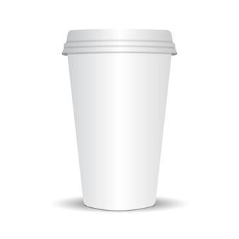 Tasse à café en papier réaliste 3d
