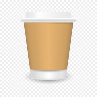 Tasse à café en papier vierge réaliste