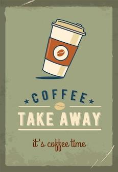 Tasse à café en papier.