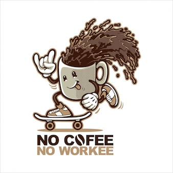 Tasse à café planches à roulettes