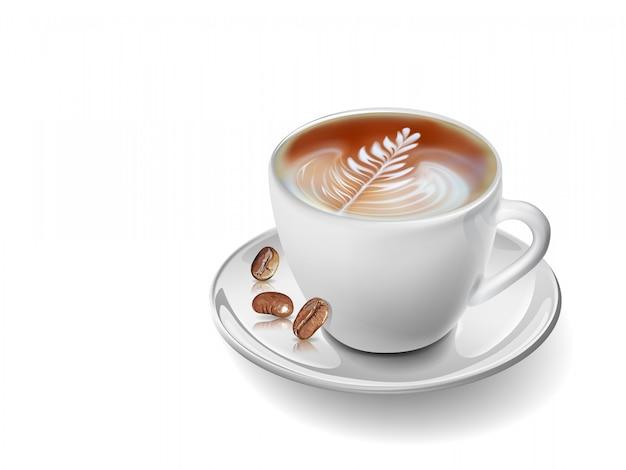 Tasse à café réaliste d'art vectoriel.