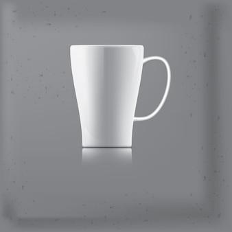 Tasse de café ou de thé l'arrière-plan est gris