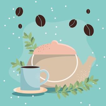 Tasse à café et théière