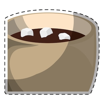 Tasse à chocolat avec image de guimauve