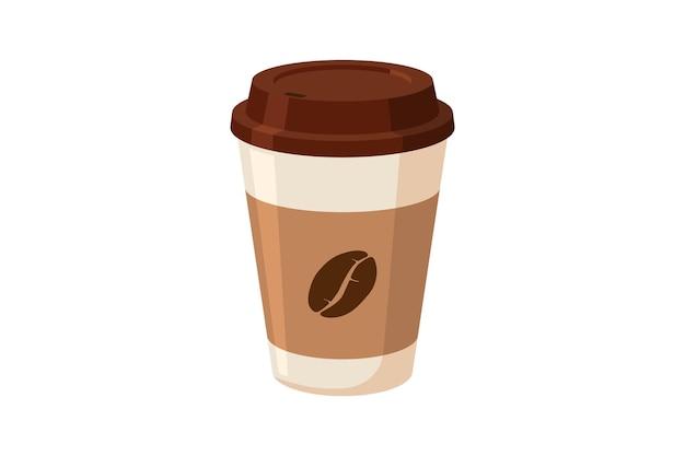 Tasse de papier café plat isolé vecteur eps10