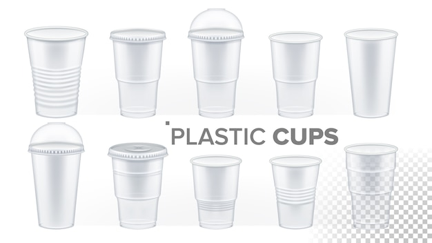 Tasse en plastique transparent