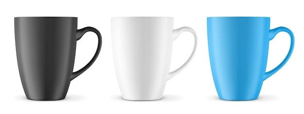 Tasse pour boissons vue de face tasse en céramique vierge