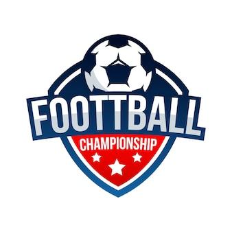 Tasse de vecteur de logo football football insigne