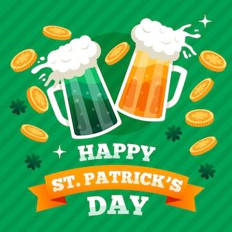 Tasses avec de la bière artisanale pour st. patricks day