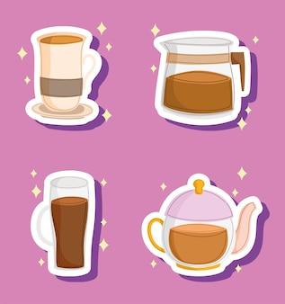 Tasses à café et cafetière