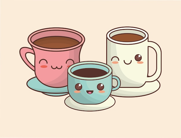 Tasses à café kawaii