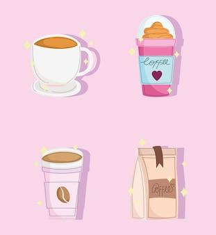 Tasses à café et produit