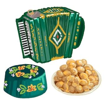 Tatar symboles accordéon calotte chak-chak