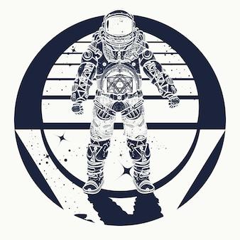 Tatouage astronaute