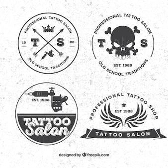 Tatouage badges rétro paquet