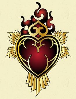 Tatouage coeur de jésus
