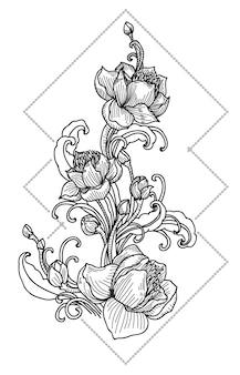 Tatouage de fleurs