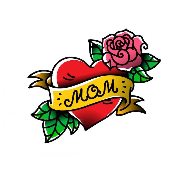 Un tatouage avec l'inscription de maman.