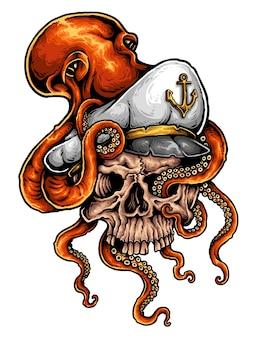 Tatouage de marin de crâne