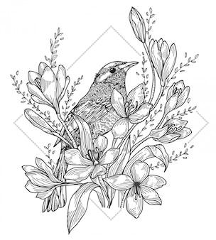Tatouage d'oiseau