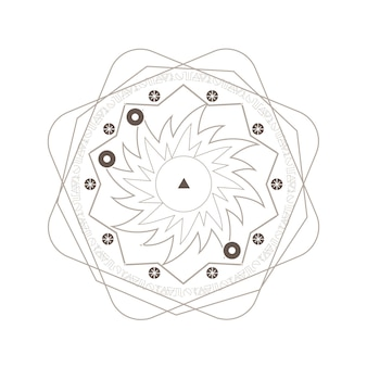 Tatouage spirituel de la géométrie mystique sur fond blanc