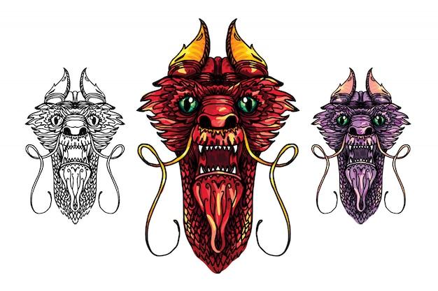 Tatouage tête de dragon