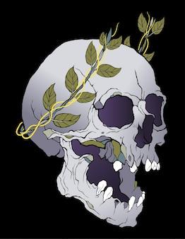 Tatouage de victoire de crâne