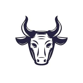 Taureau, logo vectoriel tête de boeuf