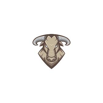 Taureau mascot logo design character
