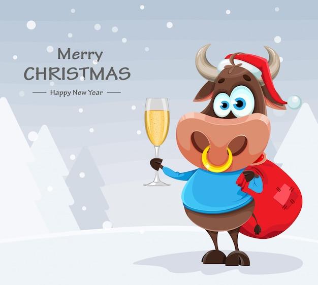 Taureau mignon, symbole du nouvel an chinois 2021