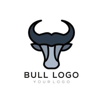 Taureau de tête d'illustration de logo