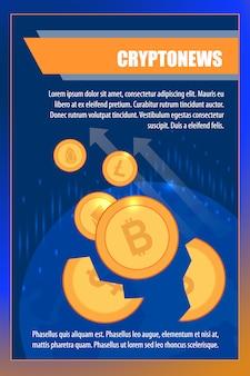 Taux de change de la crypto-monnaie pour le portefeuille du commerçant