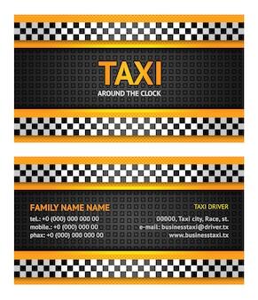 Taxi De La Carte De Visite Vecteur Premium