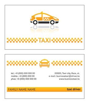 Taxi de carte de visite