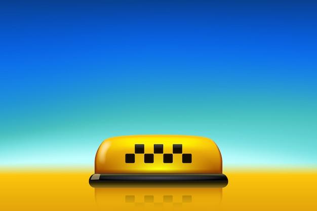 Taxi avec ciel bleu