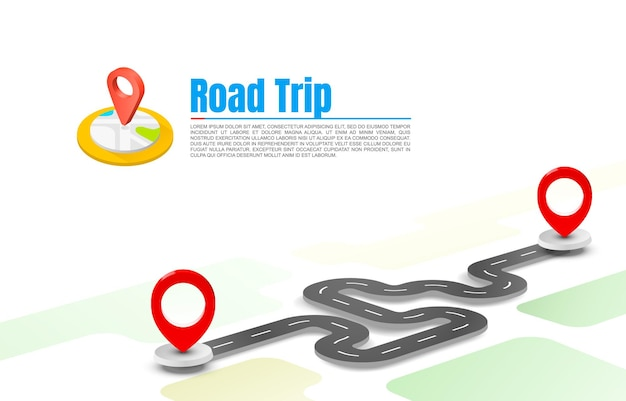 Taxi road trip, pave the route, informations de localisation.