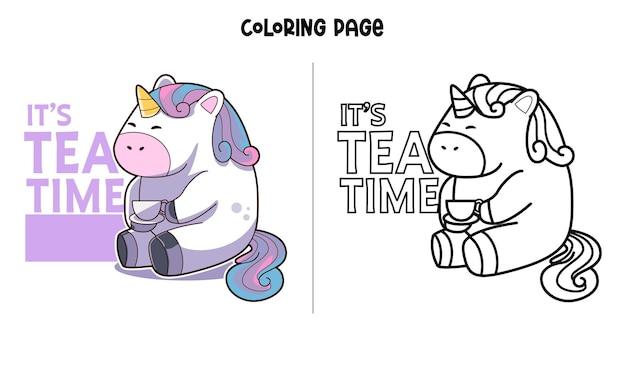Tea time avec licorne