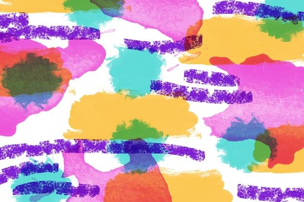 Technique intéressante de peinture abstraite